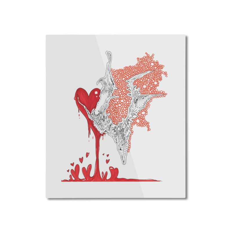 Lovesick Home Mounted Aluminum Print by Democratee