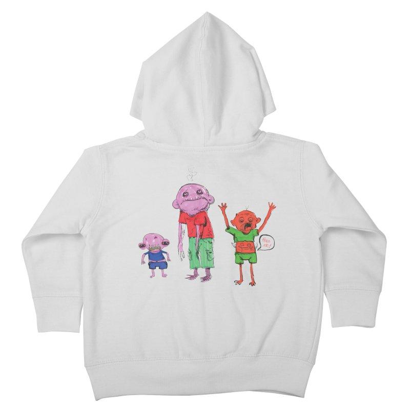 Team Always Hangry Kids Toddler Zip-Up Hoody by Democratee