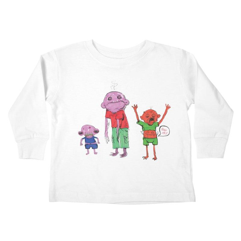 Team Always Hangry Kids Toddler Longsleeve T-Shirt by Democratee