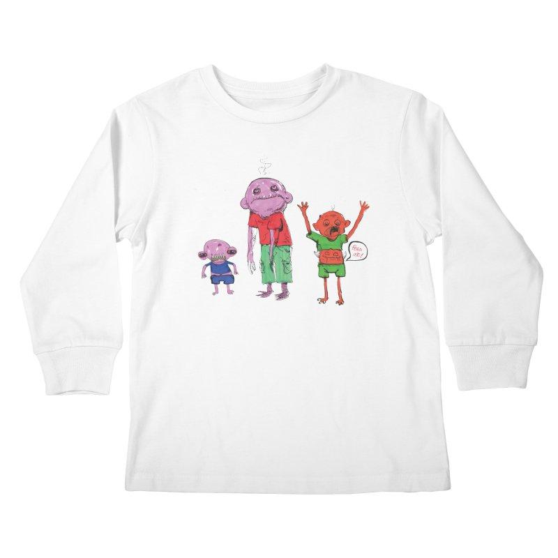 Team Always Hangry Kids Longsleeve T-Shirt by Democratee