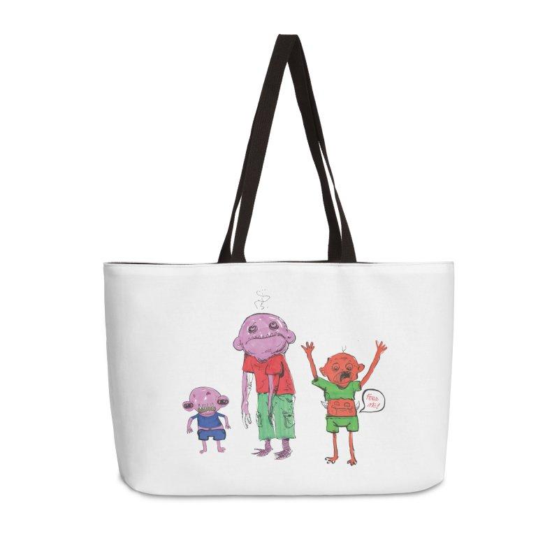 Team Always Hangry Accessories Weekender Bag Bag by Democratee