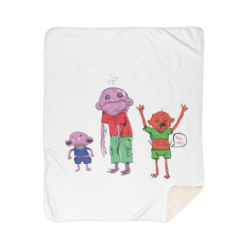 Team Always Hangry Home Sherpa Blanket Blanket by Democratee