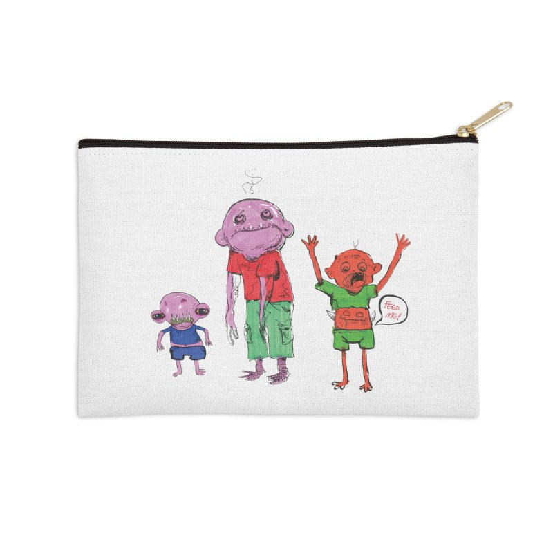 Team Always Hangry Accessories Zip Pouch by Democratee