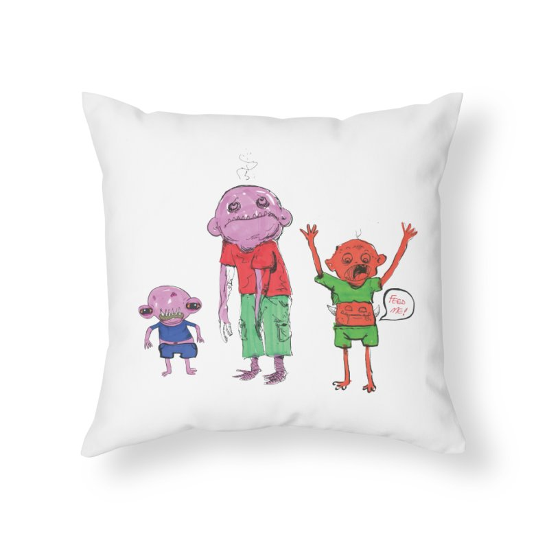 Team Always Hangry Home Throw Pillow by Democratee