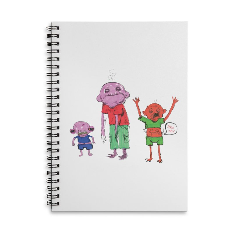 Team Always Hangry Accessories Lined Spiral Notebook by Democratee