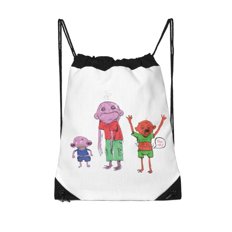 Team Always Hangry Accessories Drawstring Bag Bag by Democratee
