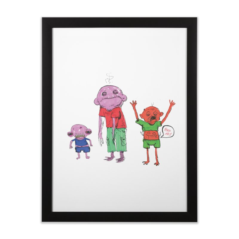 Team Always Hangry Home Framed Fine Art Print by Democratee