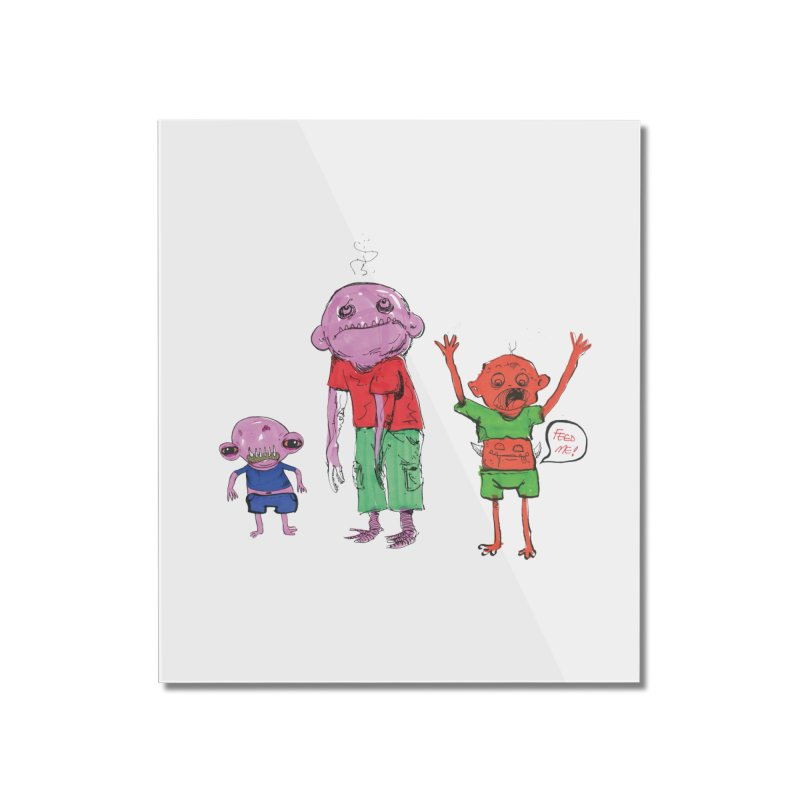 Team Always Hangry Home Mounted Acrylic Print by Democratee