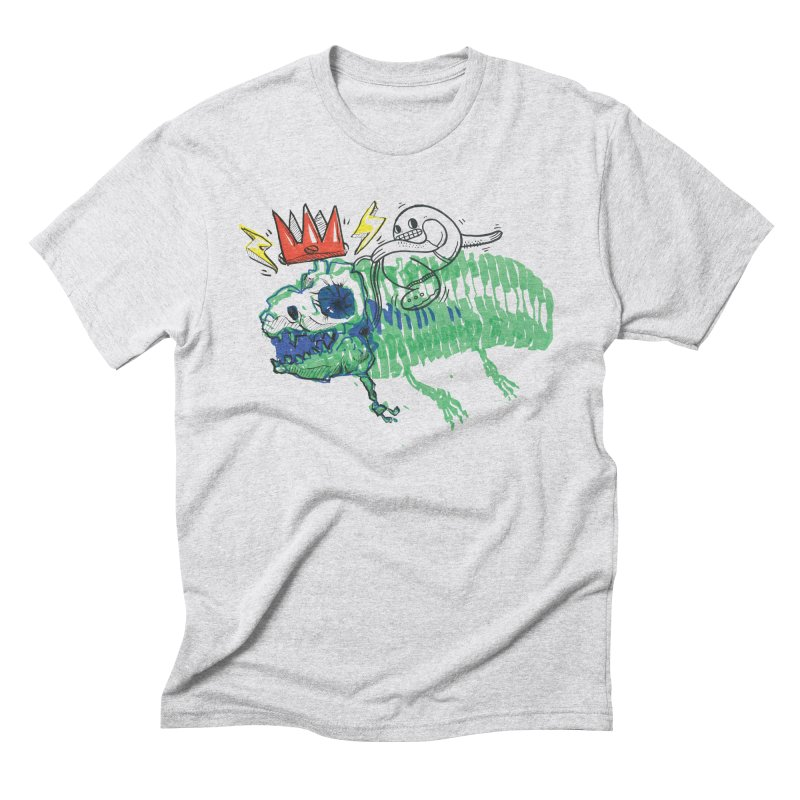 Tyrant Lizard King in Men's Triblend T-Shirt Heather White by Democratee