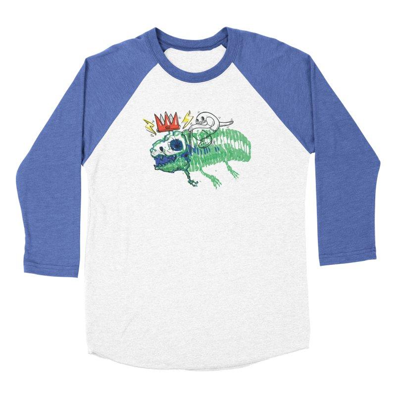 Tyrant Lizard King Women's Baseball Triblend Longsleeve T-Shirt by Democratee