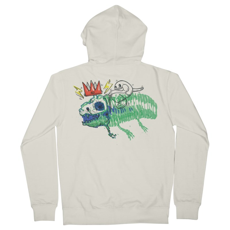 Tyrant Lizard King Men's French Terry Zip-Up Hoody by Democratee