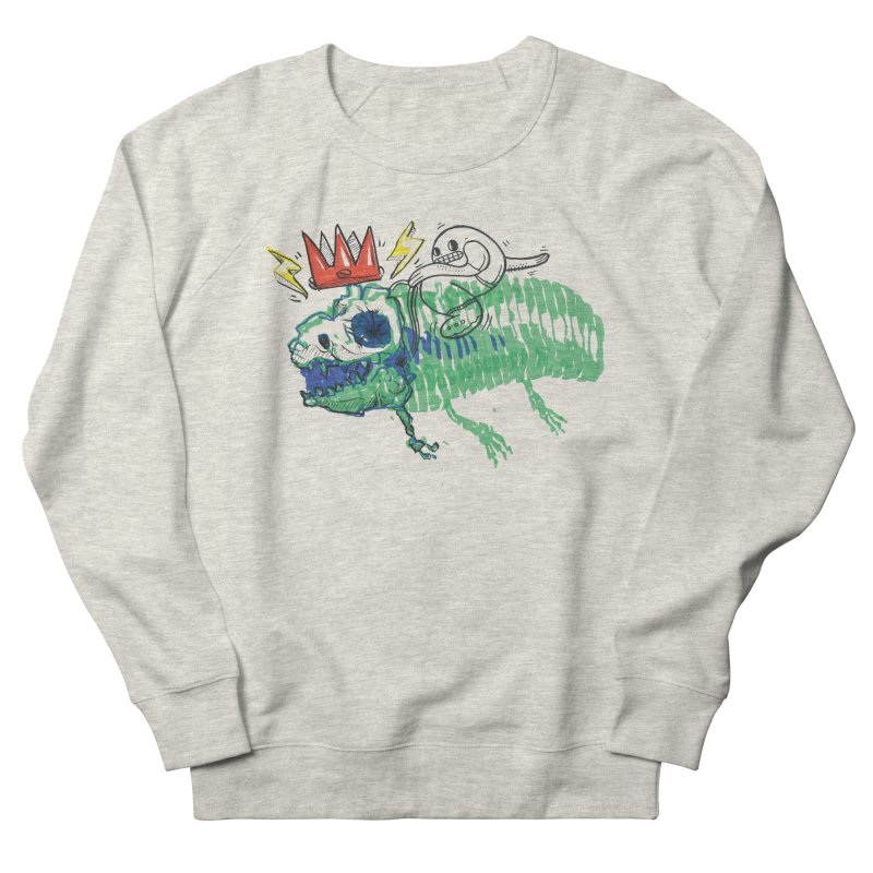 Tyrant Lizard King Men's French Terry Sweatshirt by Democratee
