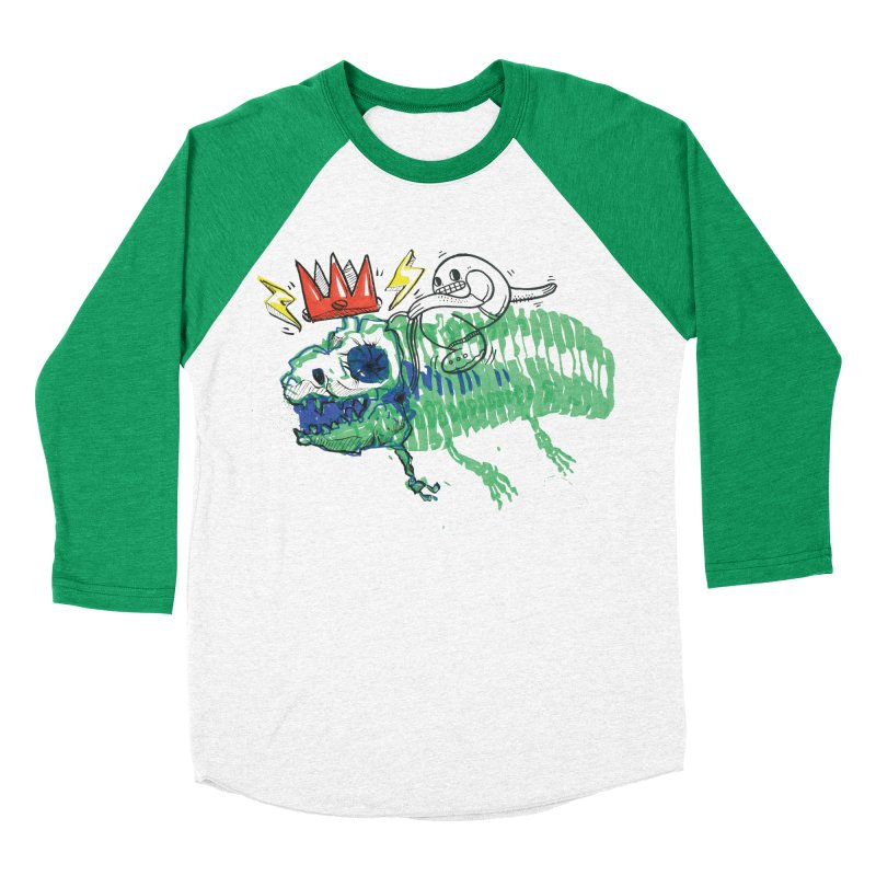 Tyrant Lizard King Men's Baseball Triblend Longsleeve T-Shirt by Democratee