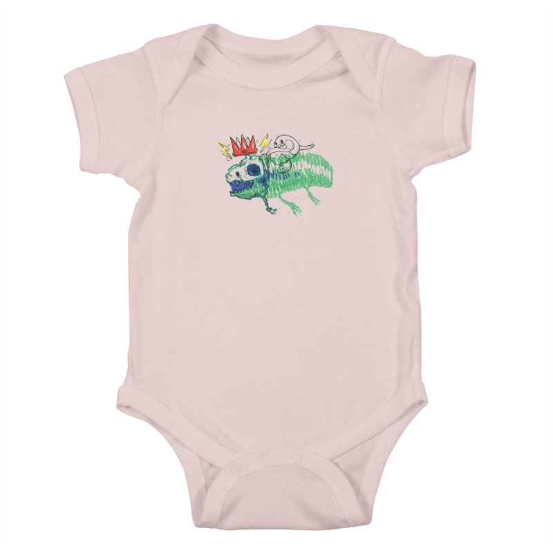 Tyrant Lizard King Kids Baby Bodysuit by Democratee