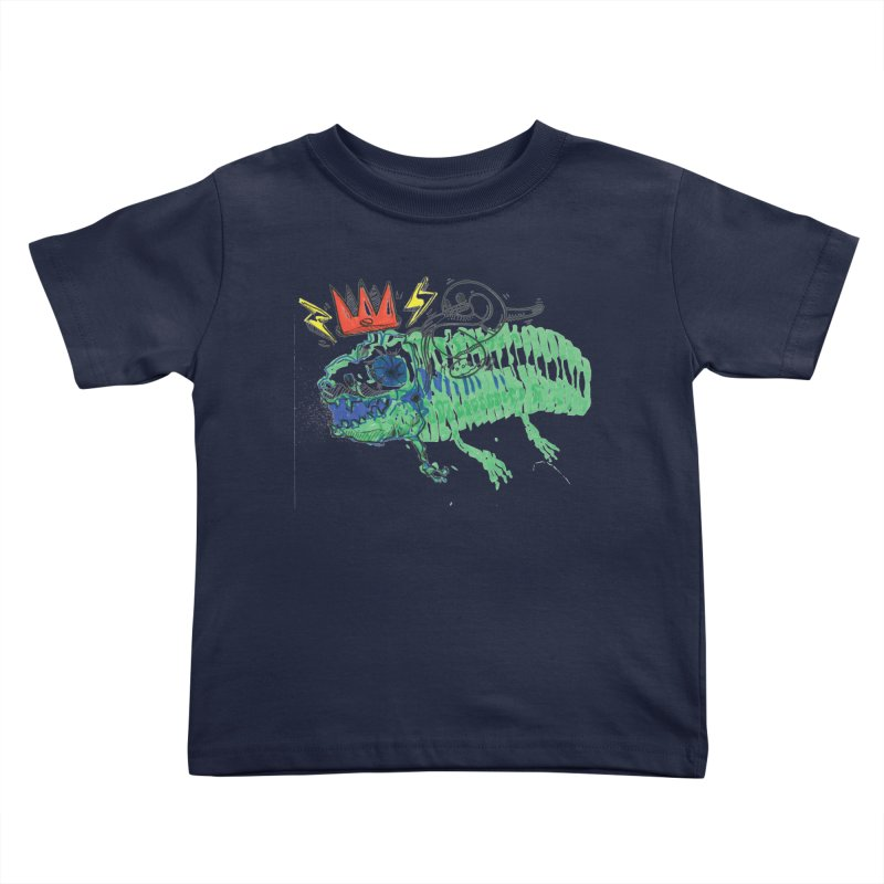 Tyrant Lizard King Kids Toddler T-Shirt by Democratee
