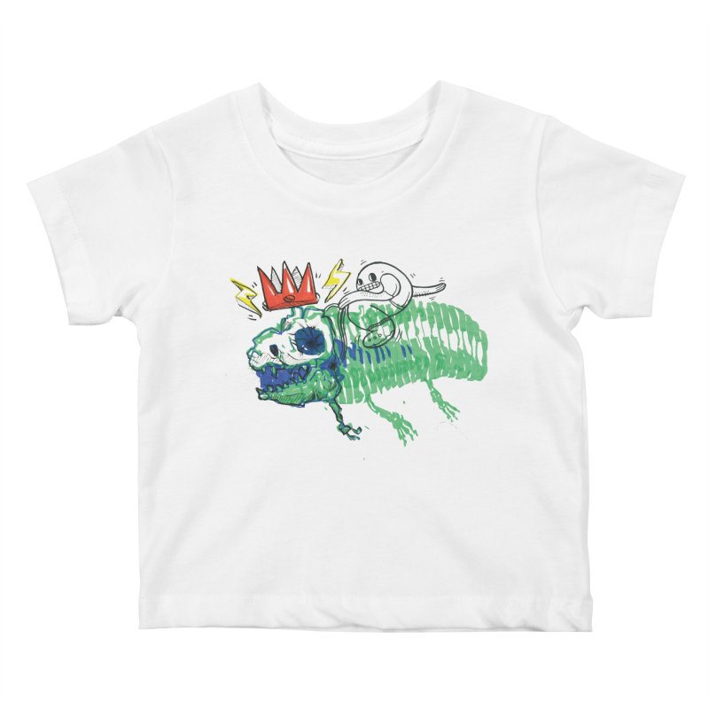 Tyrant Lizard King Kids Baby T-Shirt by Democratee