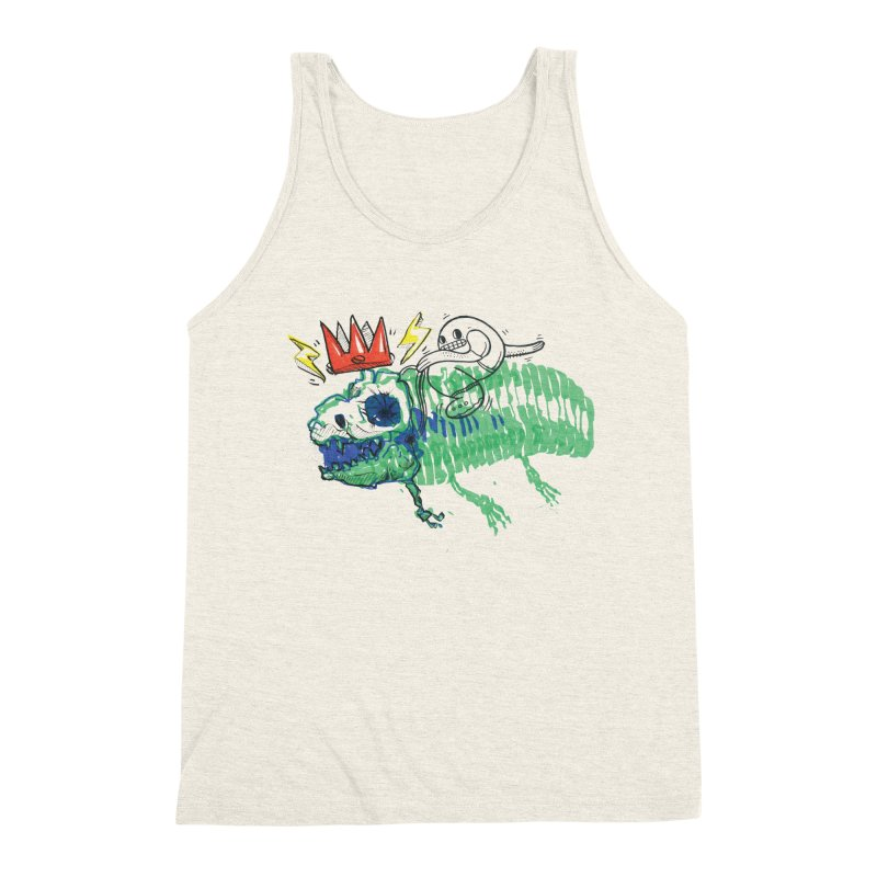 Tyrant Lizard King Men's Triblend Tank by Democratee