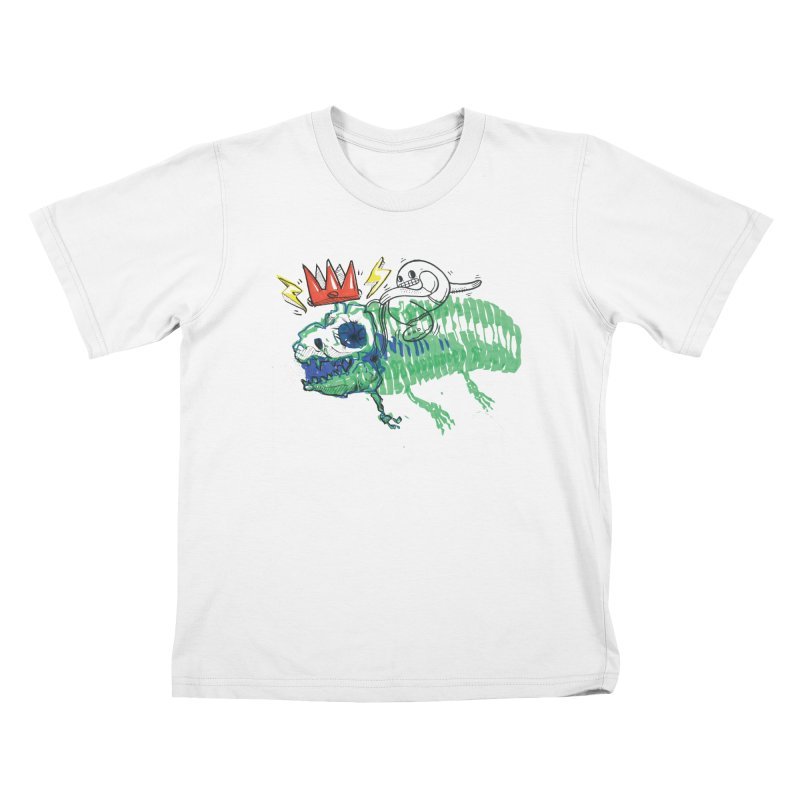 Tyrant Lizard King Kids T-Shirt by Democratee