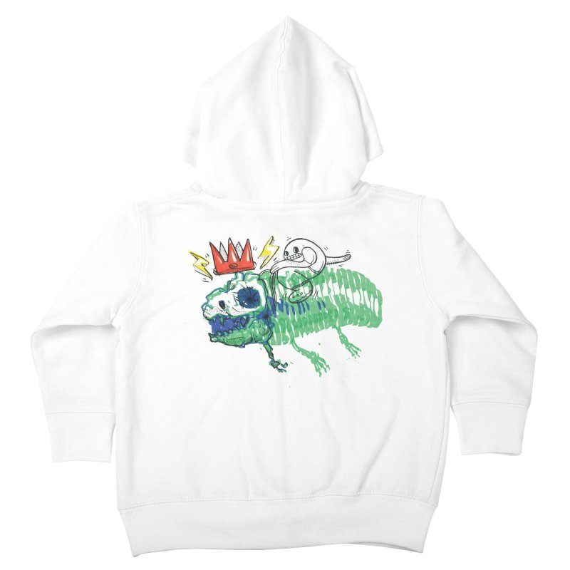 Tyrant Lizard King Kids Toddler Zip-Up Hoody by Democratee