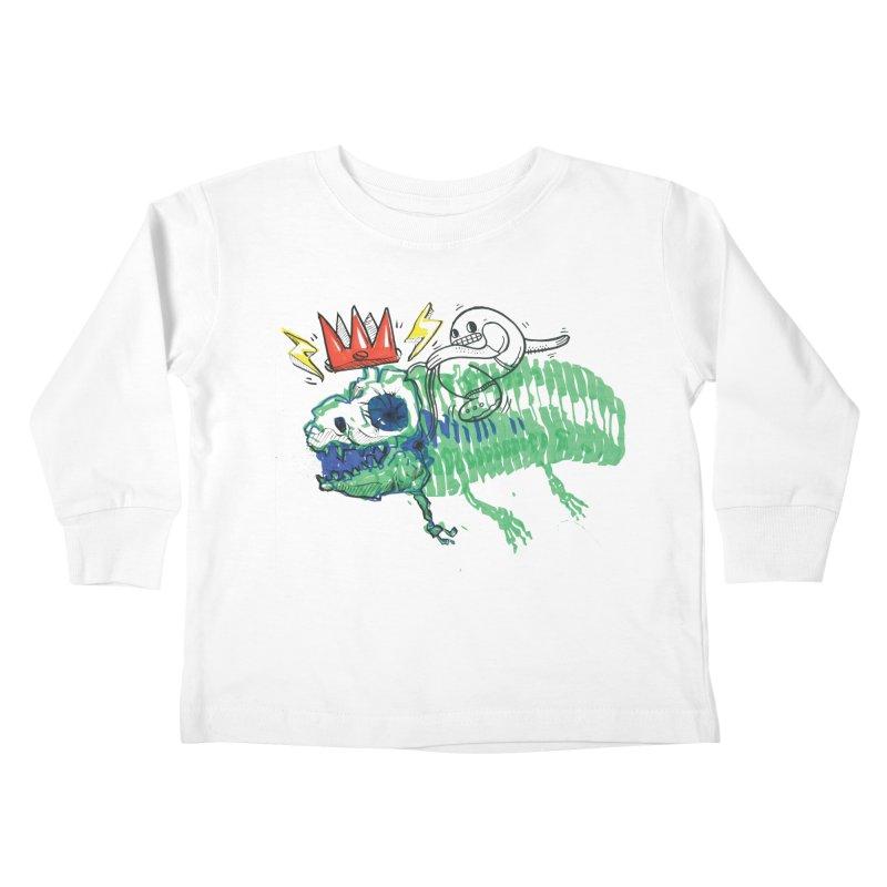 Tyrant Lizard King Kids Toddler Longsleeve T-Shirt by Democratee