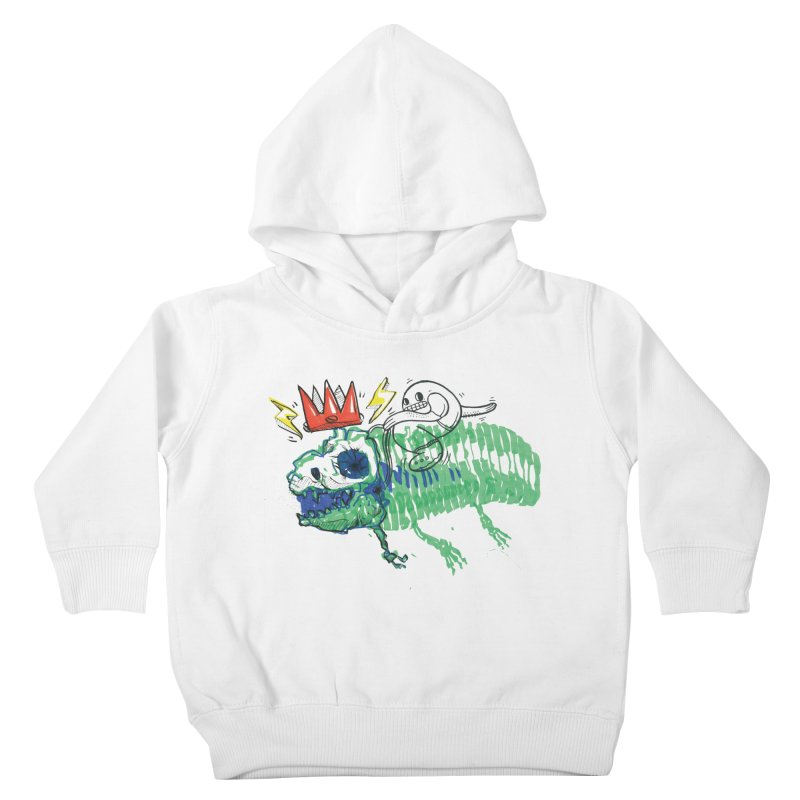 Tyrant Lizard King Kids Toddler Pullover Hoody by Democratee