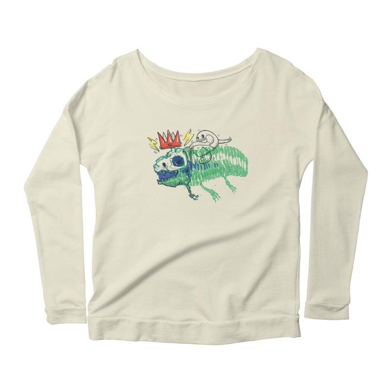 Tyrant Lizard King Women's Scoop Neck Longsleeve T-Shirt by Democratee