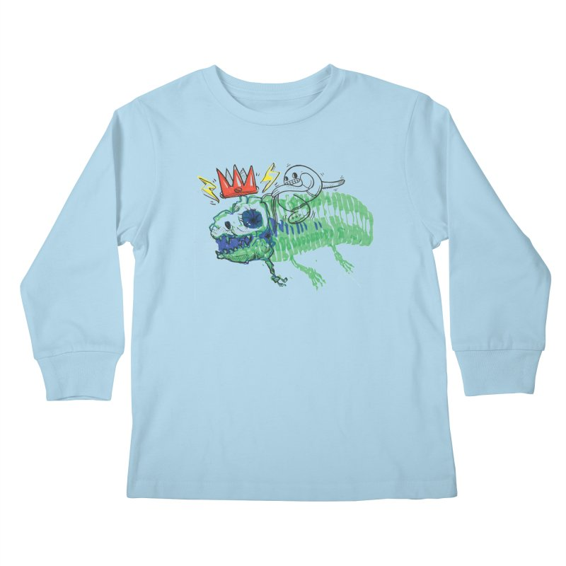 Tyrant Lizard King Kids Longsleeve T-Shirt by Democratee