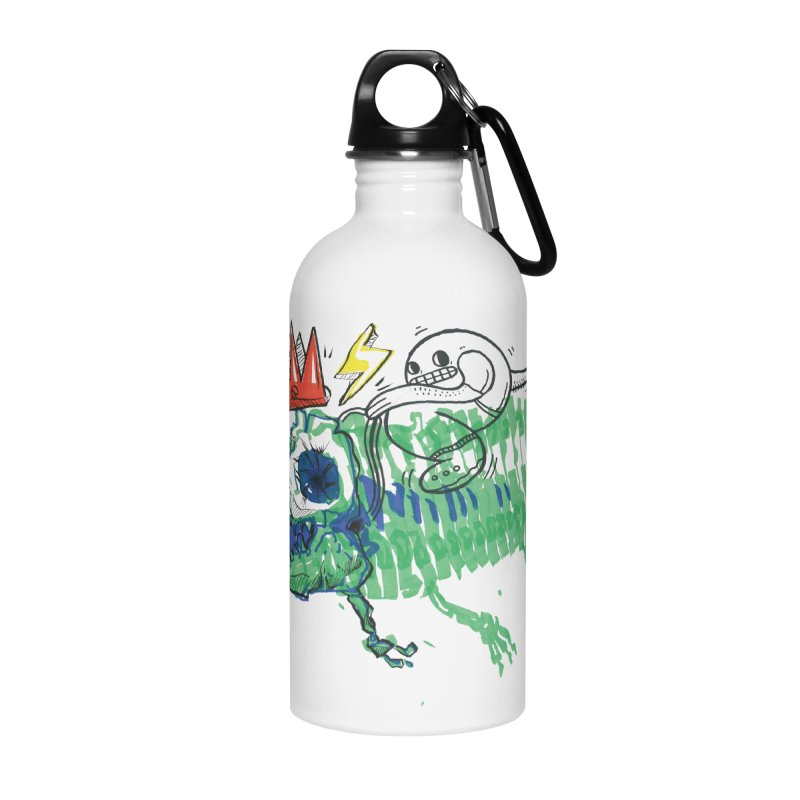 Tyrant Lizard King Accessories Water Bottle by Democratee