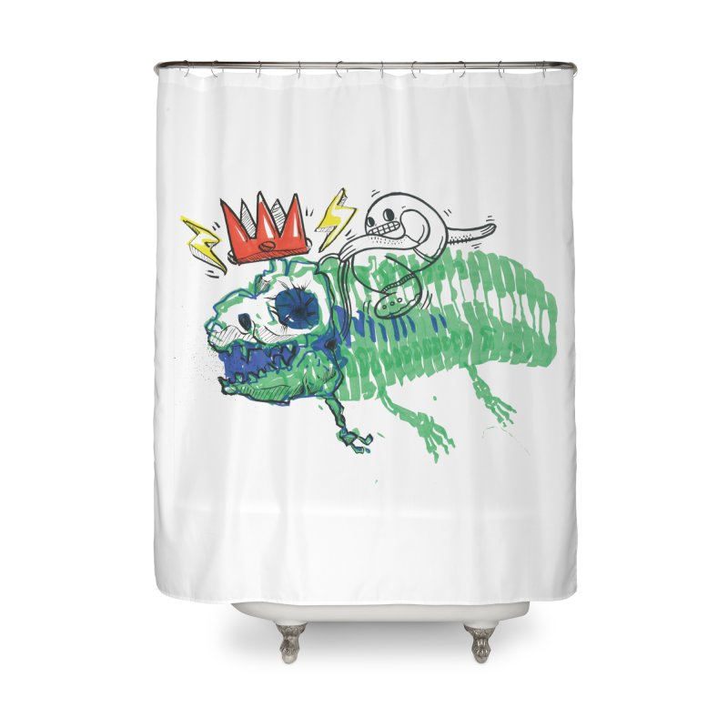 Tyrant Lizard King Home Shower Curtain by Democratee