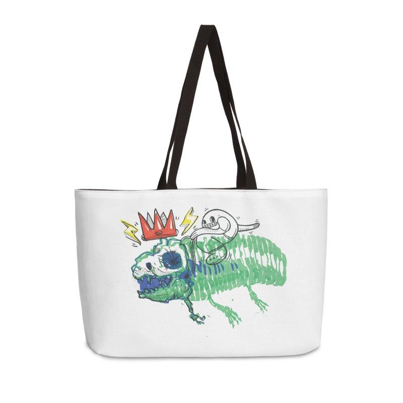 Tyrant Lizard King Accessories Weekender Bag Bag by Democratee