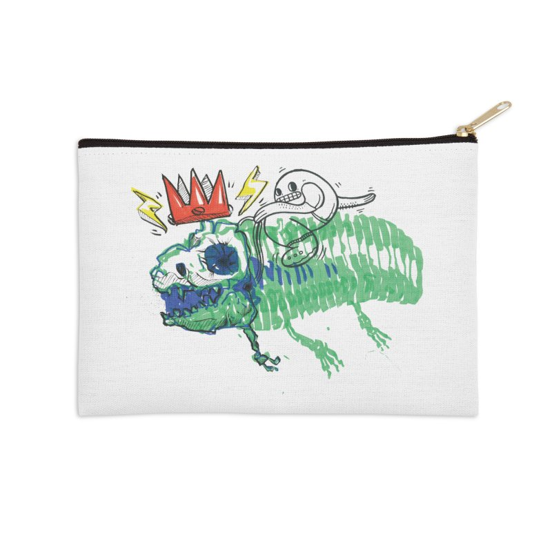 Tyrant Lizard King Accessories Zip Pouch by Democratee