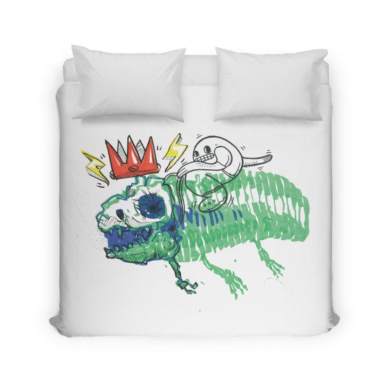 Tyrant Lizard King Home Duvet by Democratee