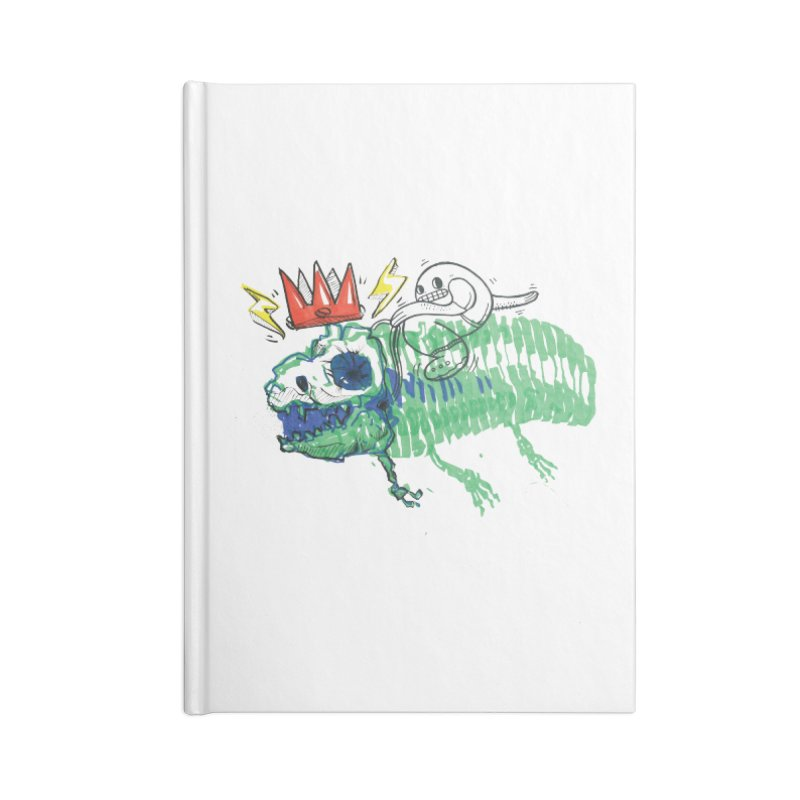 Tyrant Lizard King Accessories Lined Journal Notebook by Democratee