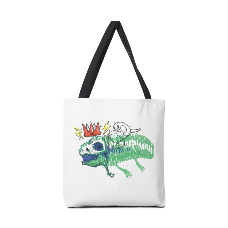 Tyrant Lizard King Accessories Tote Bag Bag by Democratee