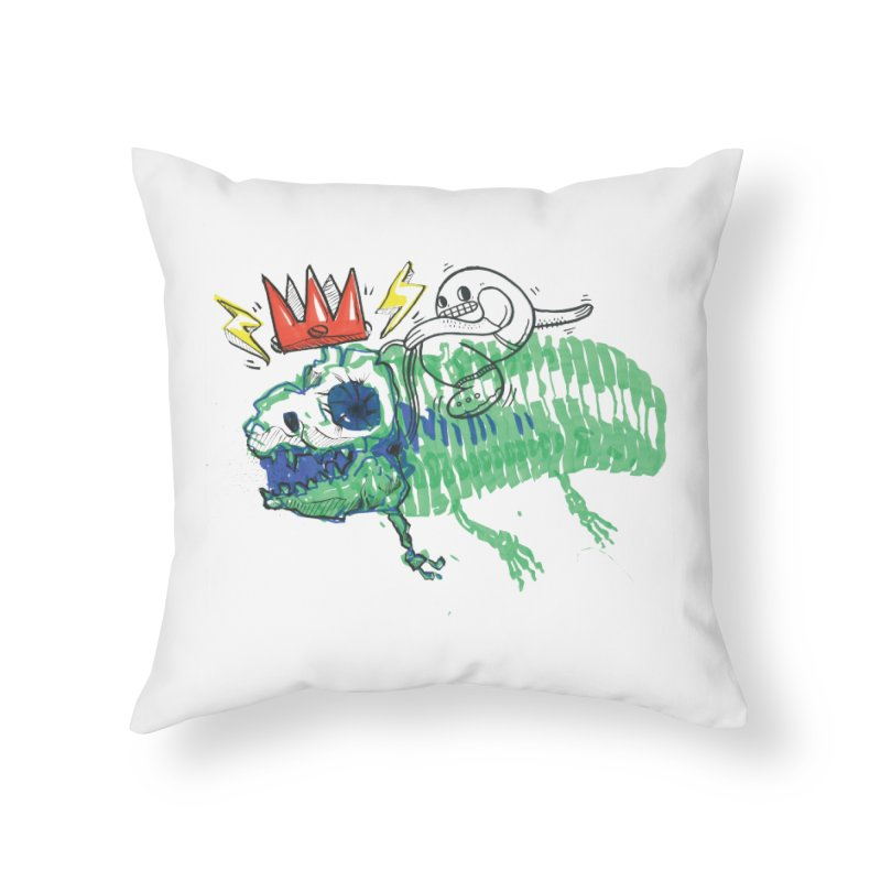Tyrant Lizard King Home Throw Pillow by Democratee