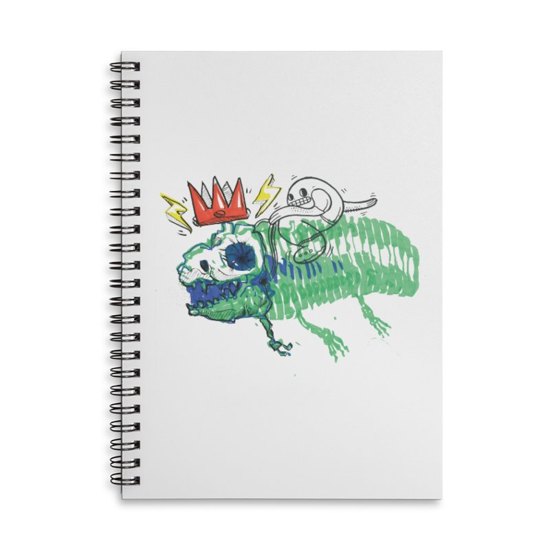 Tyrant Lizard King Accessories Lined Spiral Notebook by Democratee