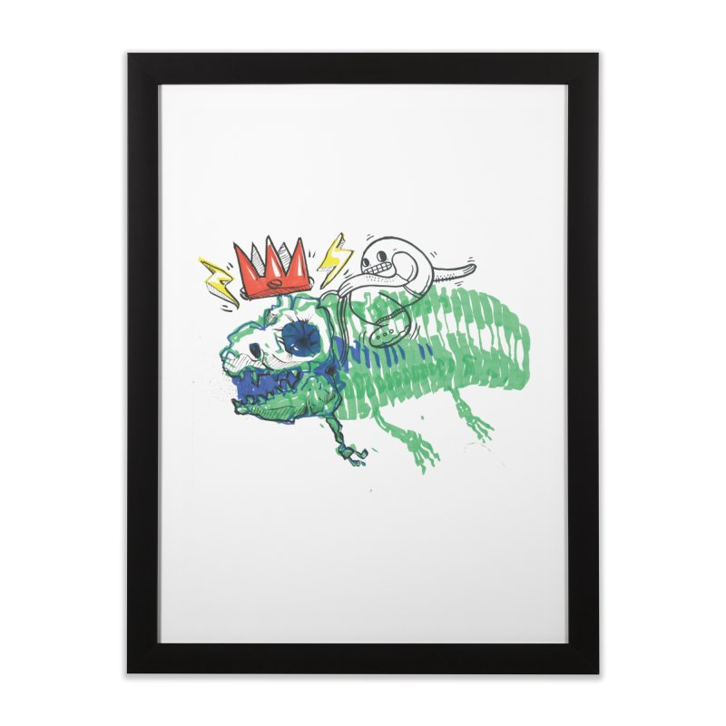 Tyrant Lizard King Home Framed Fine Art Print by Democratee