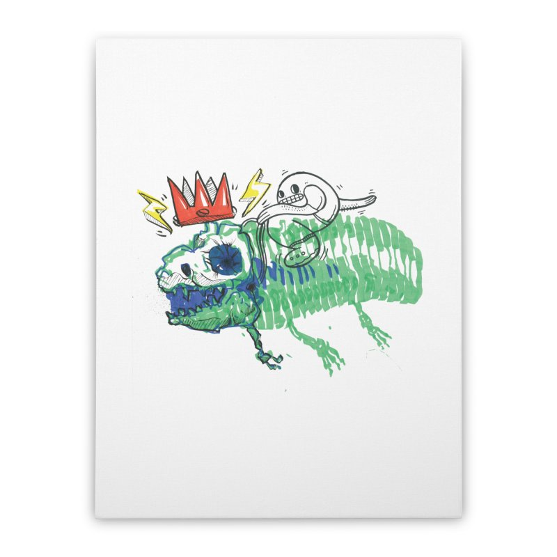 Tyrant Lizard King Home Stretched Canvas by Democratee