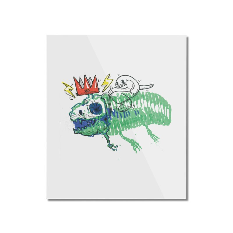 Tyrant Lizard King Home Mounted Acrylic Print by Democratee