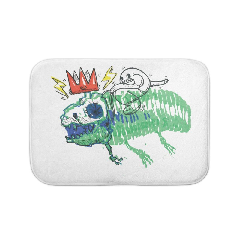 Tyrant Lizard King Home Bath Mat by Democratee