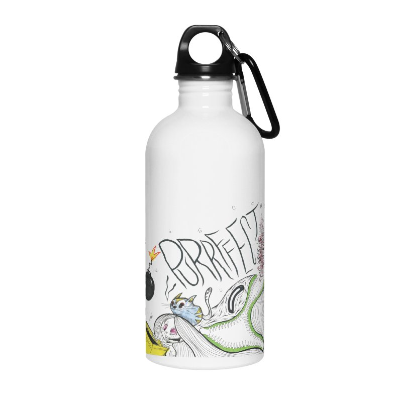 Purrffection in Water Bottle by democratee's Artist Shop