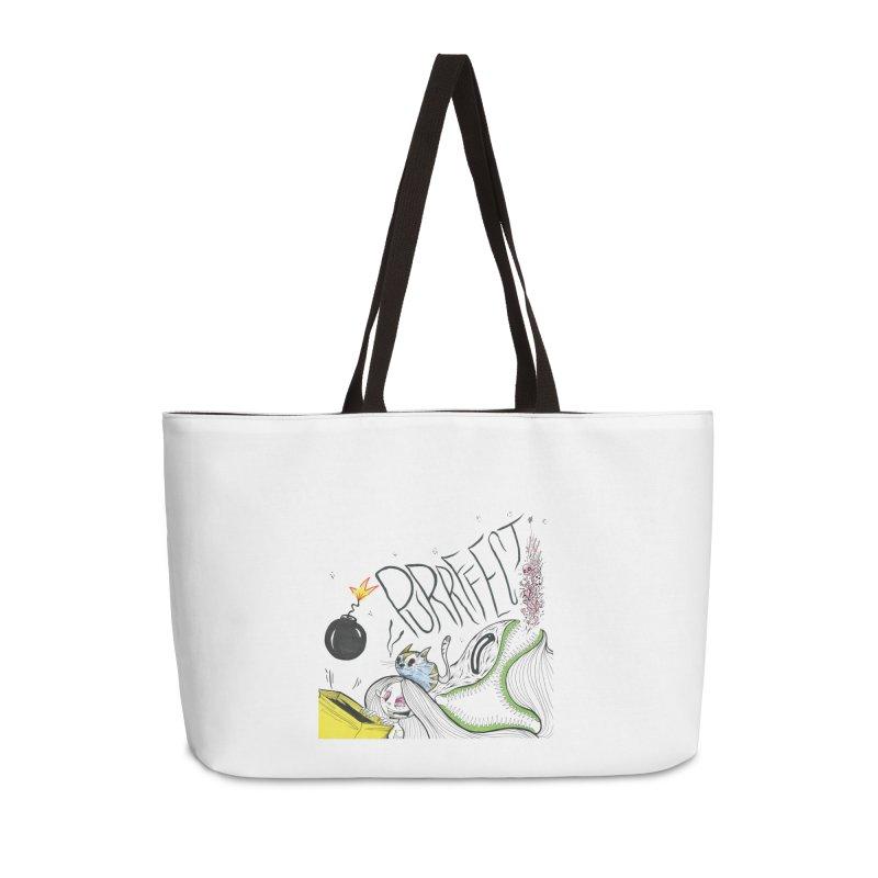 Purrffection Accessories Weekender Bag Bag by Democratee