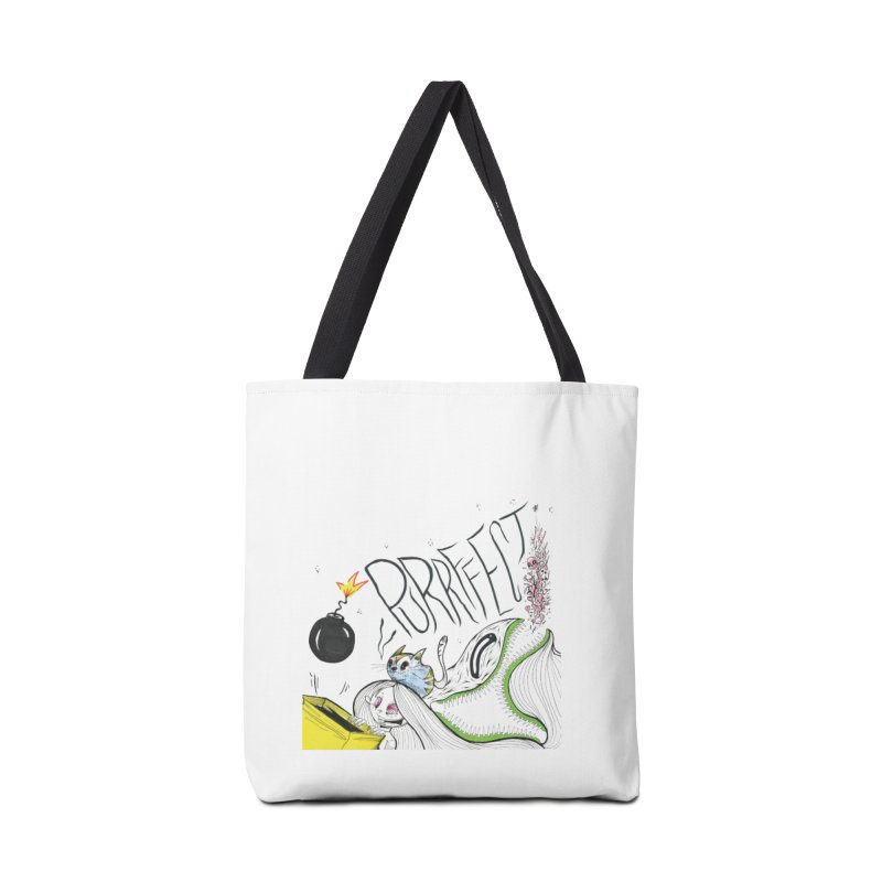 Purrffection Accessories Tote Bag Bag by Democratee