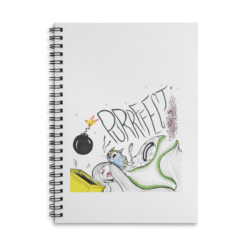 Purrffection Accessories Lined Spiral Notebook by Democratee