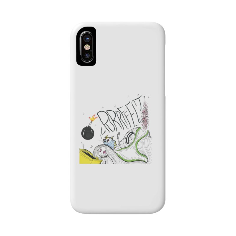 Purrffection Accessories Phone Case by Democratee