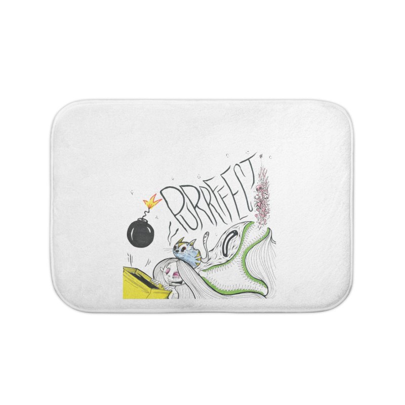 Purrffection Home Bath Mat by Democratee