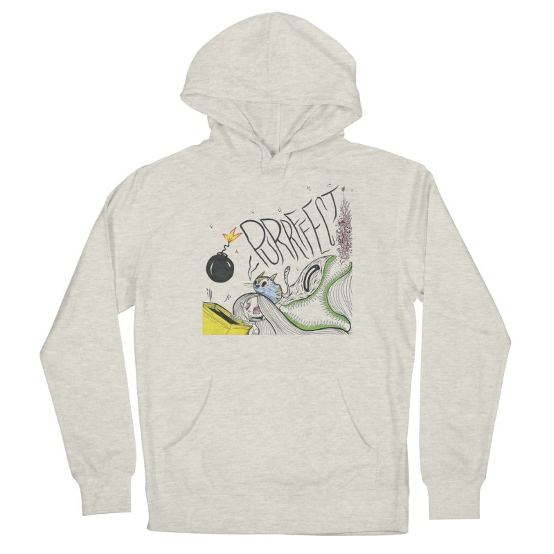 Purrffection Men's French Terry Pullover Hoody by Democratee