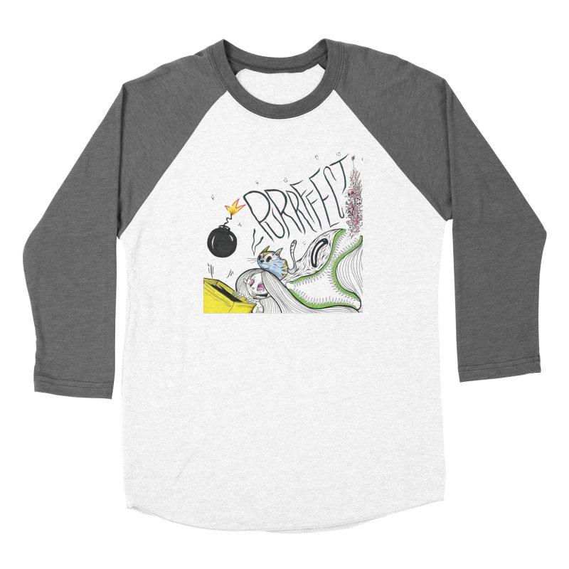 Purrffection Women's Baseball Triblend Longsleeve T-Shirt by Democratee