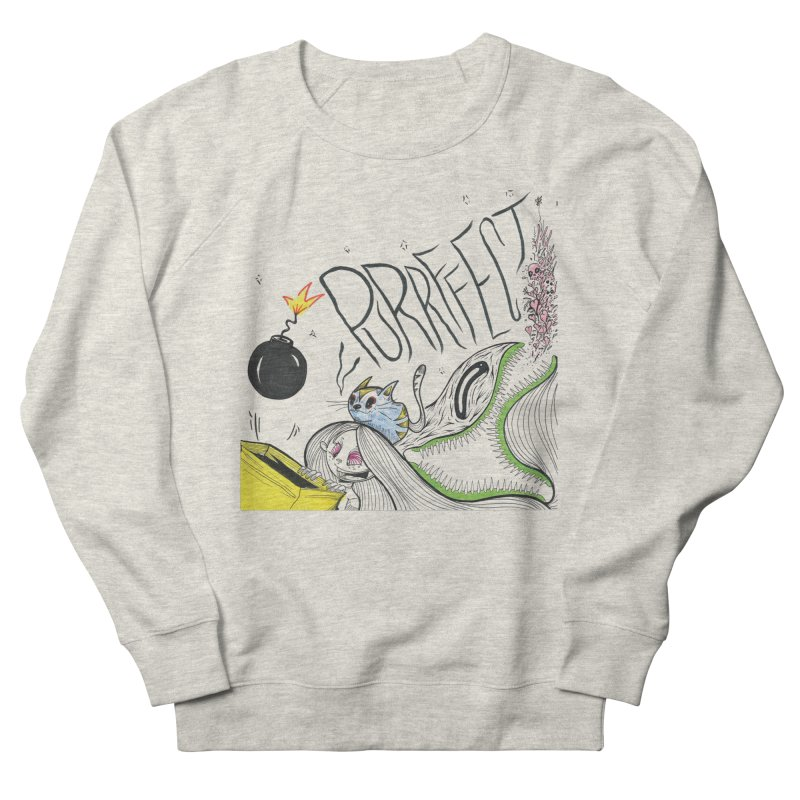 Purrffection Men's French Terry Sweatshirt by Democratee