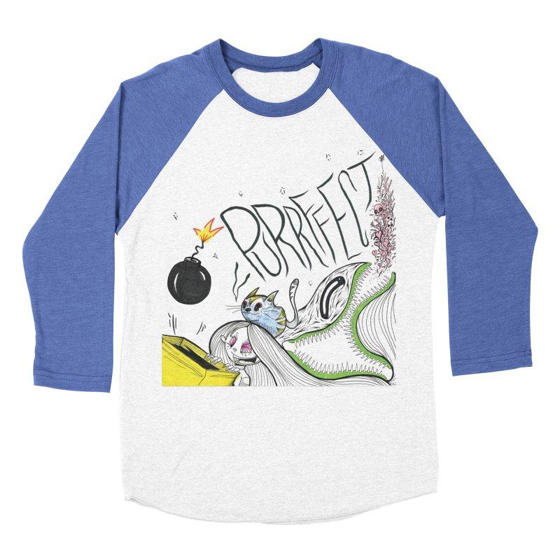 Purrffection Men's Baseball Triblend Longsleeve T-Shirt by Democratee